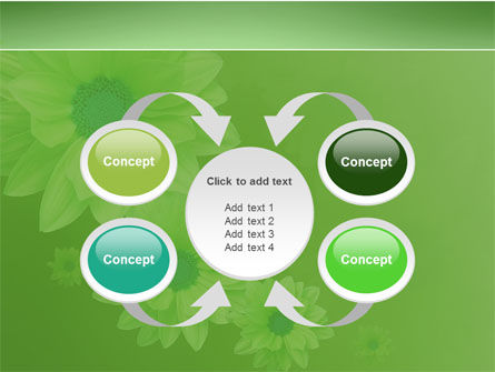 Green Flowers PowerPoint Template Slide 6