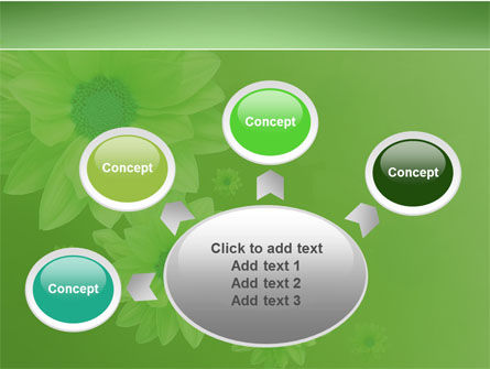 Green Flowers PowerPoint Template Slide 7