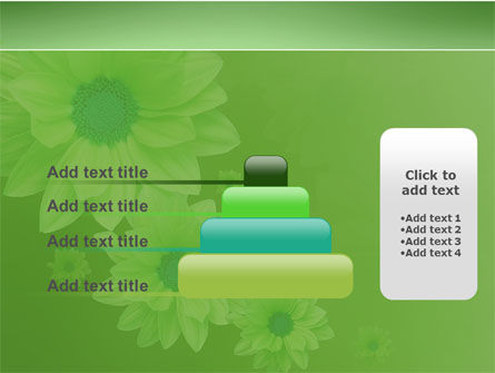Green Flowers PowerPoint Template Slide 8