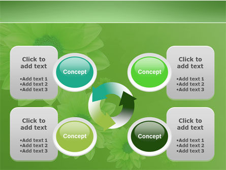 Green Flowers PowerPoint Template Slide 9