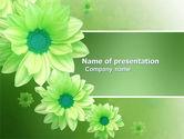 Holiday/Special Occasion: 파워포인트 템플릿 - 녹색 꽃 #03594