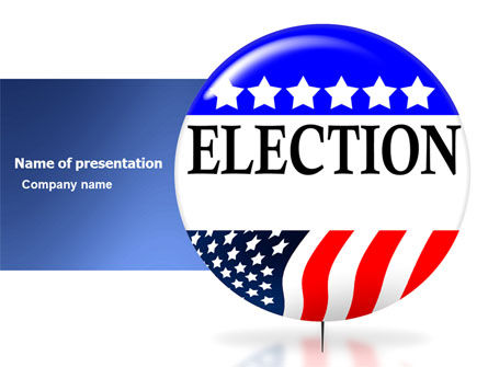 America: USA Elections PowerPoint Template #03595