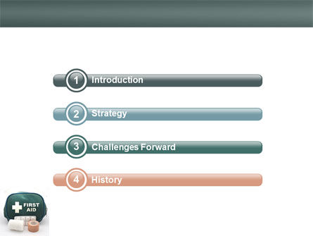 First Aid Set PowerPoint Template, Slide 3, 03596, Medical — PoweredTemplate.com