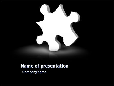 White Piece PowerPoint Template, 03597, Business Concepts — PoweredTemplate.com