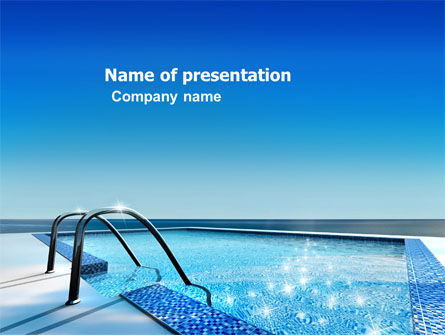 Swimming Pool PowerPoint Template, 03599, Careers/Industry — PoweredTemplate.com