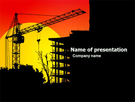 Building Set PowerPoint Template, 03600, Construction — PoweredTemplate.com