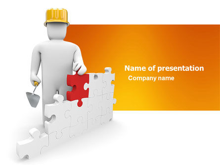Construction: Building Up PowerPoint Template #03604
