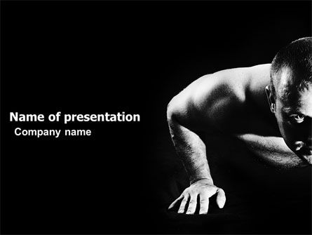 Men Sport PowerPoint Template, 03606, Sports — PoweredTemplate.com