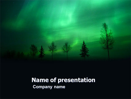 Nature & Environment: Northern Lights PowerPoint Template #03607