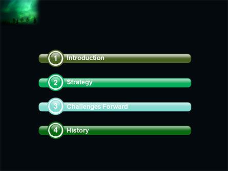 Northern Lights PowerPoint Template, Slide 3, 03607, Nature & Environment — PoweredTemplate.com