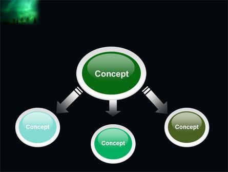 Northern Lights PowerPoint Template, Slide 4, 03607, Nature & Environment — PoweredTemplate.com
