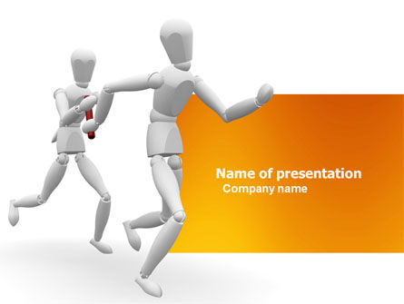 Relay PowerPoint Template, 03608, Business Concepts — PoweredTemplate.com