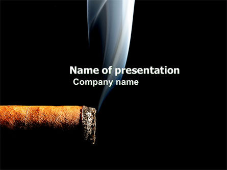 Nicotine PowerPoint Template, 03609, Medical — PoweredTemplate.com