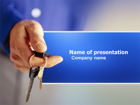 Car Keys PowerPoint Template, 03610, Business Concepts — PoweredTemplate.com