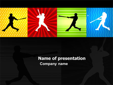 Baseball Bat Hit PowerPoint Template, 03612, Sports — PoweredTemplate.com