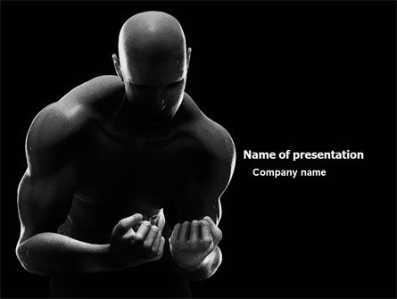 Sports: Bodybuilder PowerPoint Template #03613