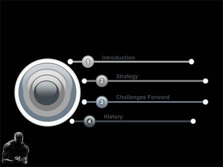 Bodybuilder PowerPoint Template, Slide 3, 03613, Sports — PoweredTemplate.com