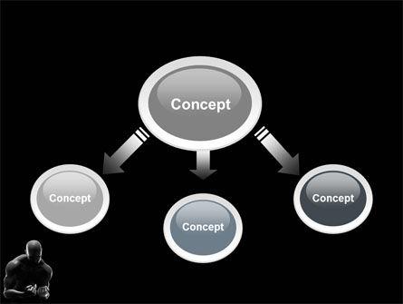 Bodybuilder PowerPoint Template, Slide 4, 03613, Sports — PoweredTemplate.com