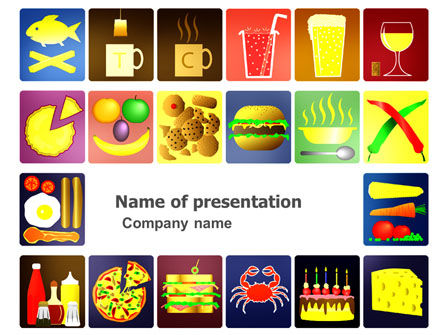 Fast Food Ingredients PowerPoint Template