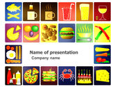 Food & Beverage: Fast Food Ingredients PowerPoint Template #03614