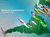 Flags/International: South and Central America PowerPoint Template #03615