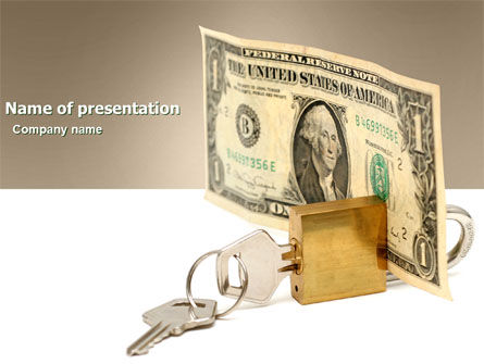 Money Savings PowerPoint Template, 03616, Financial/Accounting — PoweredTemplate.com