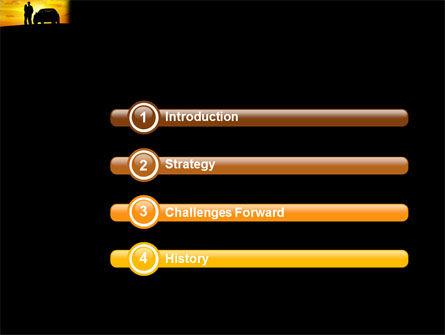 Romantic Sunset PowerPoint Template, Slide 3, 03617, Cars and Transportation — PoweredTemplate.com