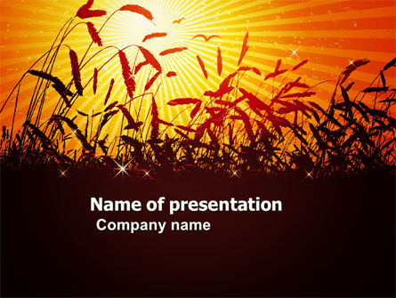 Sunny Field PowerPoint Template, 03618, Agriculture — PoweredTemplate.com