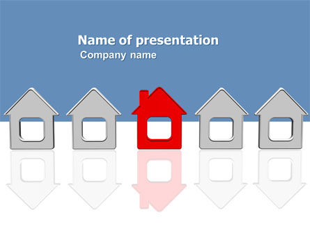 Typical House Of Suburban Icon PowerPoint Template