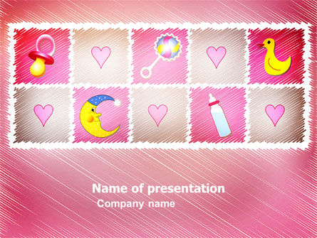 Baby's Room Theme PowerPoint Template, 03622, Education & Training — PoweredTemplate.com