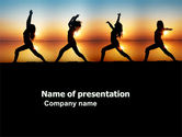 Sports: Sunset Exercises PowerPoint Template #03624