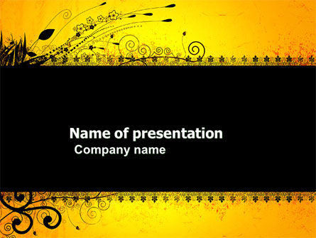 Decorated Panel PowerPoint Template