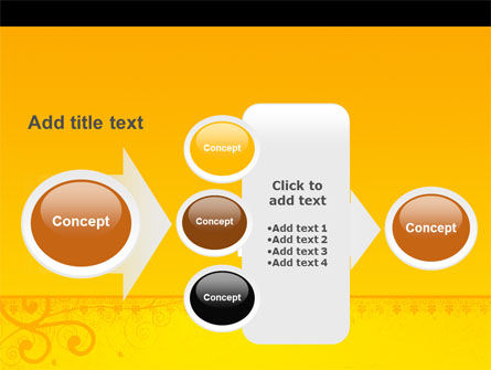 Decorated Panel PowerPoint Template Slide 17