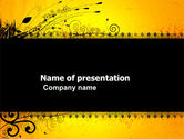 Abstract/Textures: Decorated Panel PowerPoint Template #03625