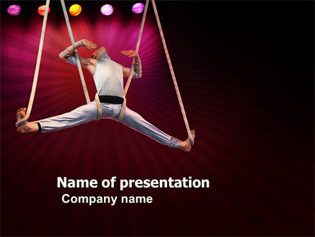 Circus Gymnast PowerPoint Template