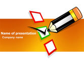 General: Questionnaire PowerPoint Template #03627