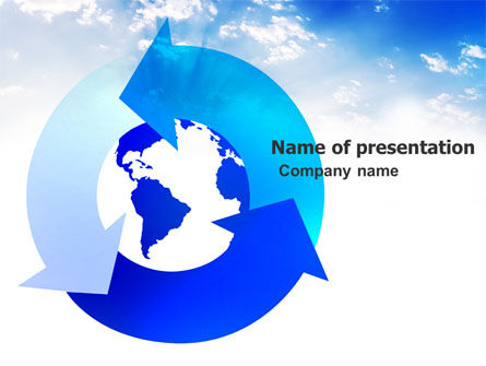Global Recycle PowerPoint Template, 03628, Global — PoweredTemplate.com