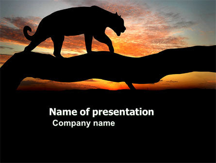 Animals and Pets: Panther PowerPoint Template #03629