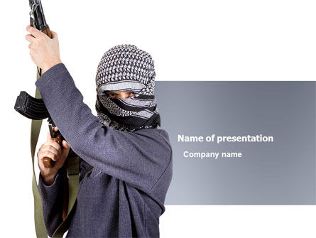 Military: Terrorist PowerPoint Template #03632