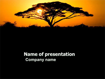 Nature & Environment: Baobab PowerPoint Template #03635