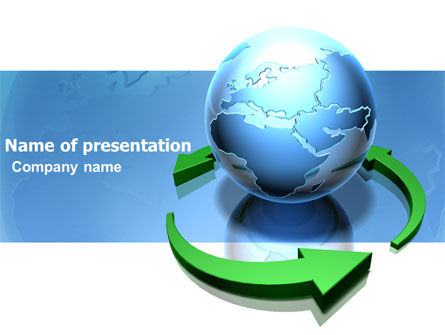 Restoring World PowerPoint Template, 03636, Global — PoweredTemplate.com