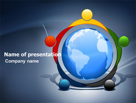 Five Continents PowerPoint Template, 03637, Global — PoweredTemplate.com