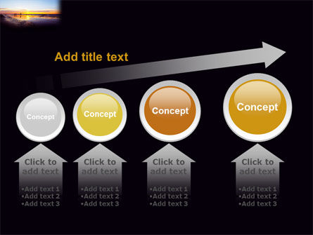 Ocean Sunset PowerPoint Template Slide 13