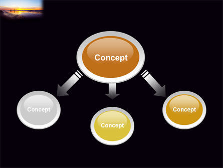 Ocean Sunset PowerPoint Template, Slide 4, 03641, Nature & Environment — PoweredTemplate.com