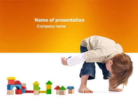 Education & Training: Child Games PowerPoint Template #03642