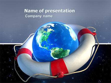 save earth powerpoint template, backgrounds | 03643, Modern powerpoint