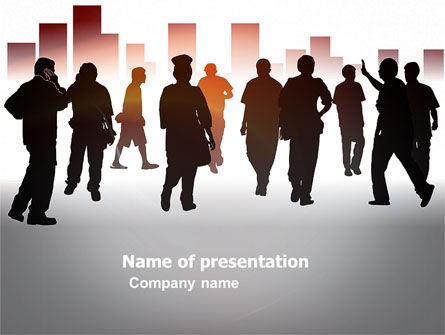 Business Concepts: City People PowerPoint Template #03644