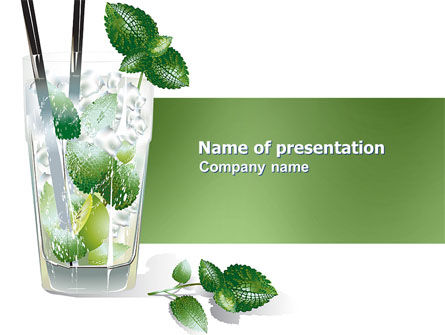 Mochito PowerPoint Template, 03645, Food & Beverage — PoweredTemplate.com