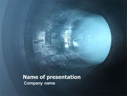 Blue Tube PowerPoint Template, 03646, Technology and Science — PoweredTemplate.com