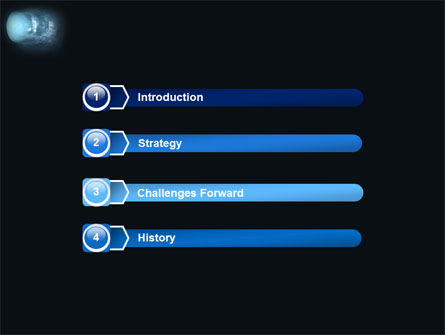 Blue Tube PowerPoint Template, Slide 3, 03646, Technology and Science — PoweredTemplate.com